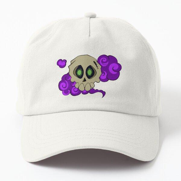 Skull with fog (purple) Dad Hat