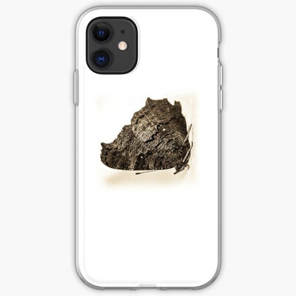 butterfly b&w iPhone Soft Case