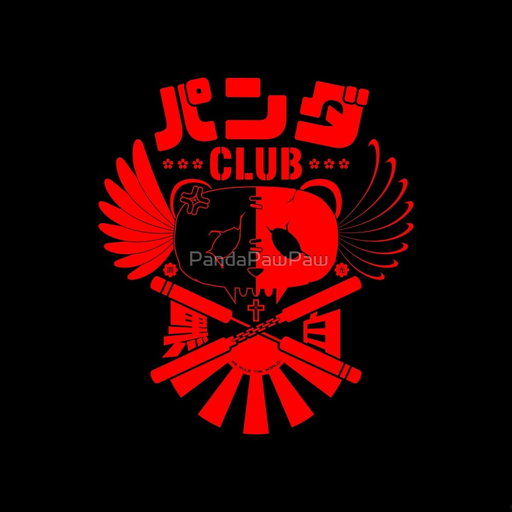 Panda Club Logo Design (Red) by PandaPawPaw