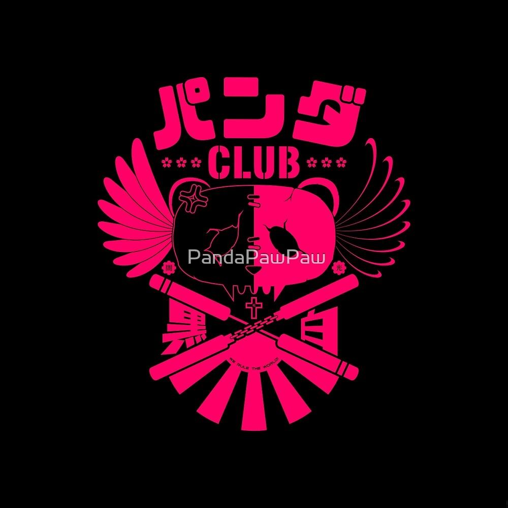 Panda Club Logo Design (Pink) by PandaPawPaw