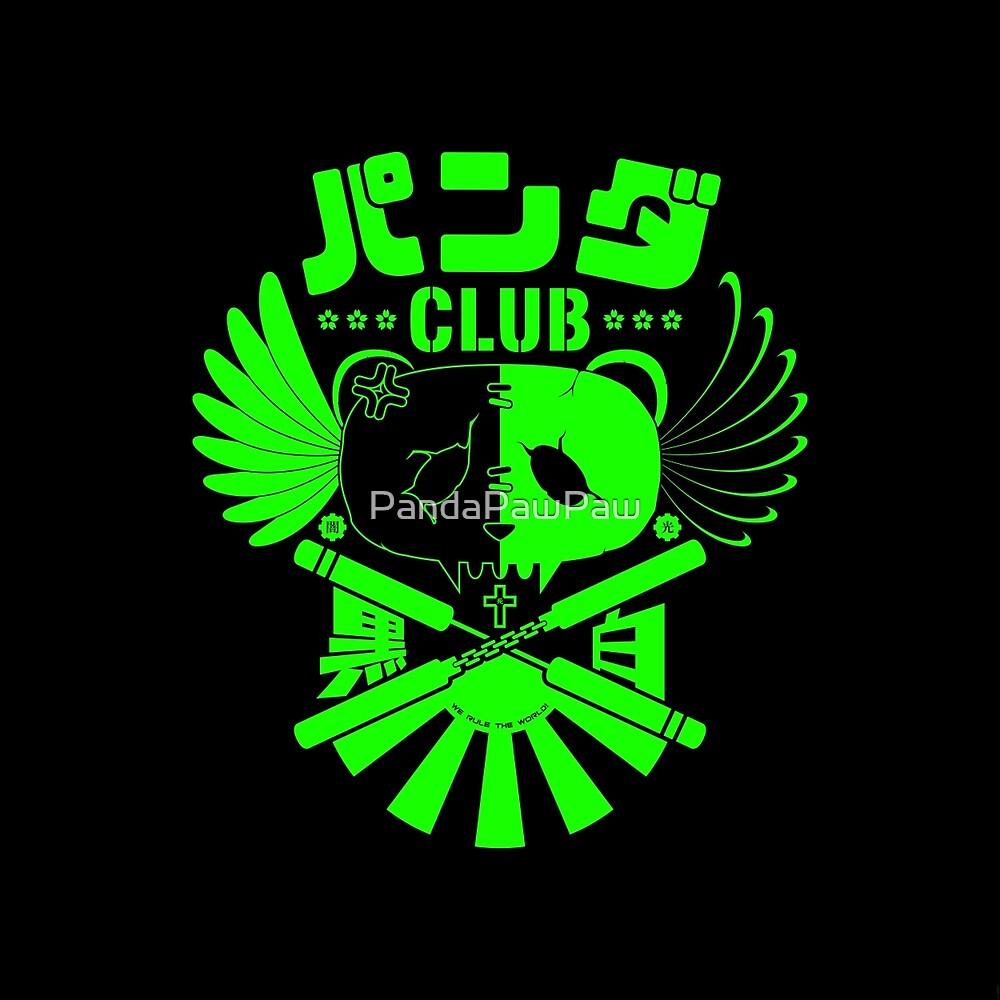 Panda Club Logo Design (Green) by PandaPawPaw