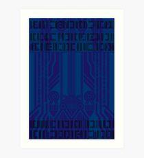 Cyberpunk Pattern 6 Art Print