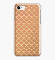 coral and gold scallop iPhone Case/Skin
