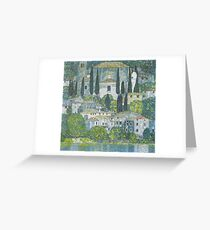 Gustav Klimt - Church In Cassone, 1913 Greeting Card