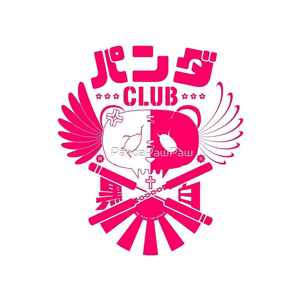 Panda Club Logo Design (Pink) (V2) by PandaPawPaw