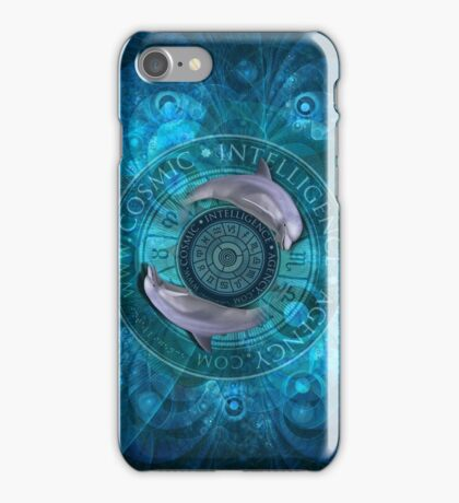 Cosmic Intelligence Agency - Dolphins iPhone Case/Skin