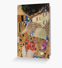 Gustav Klimt - The Kiss, 1907-08 Detal 4 Greeting Card