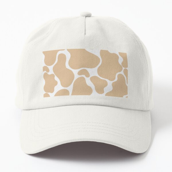 Beige on White Background Classic Cute Cowprint Dad Hat