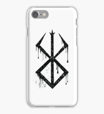 Sacrifice Symbol Black iPhone Case/Skin