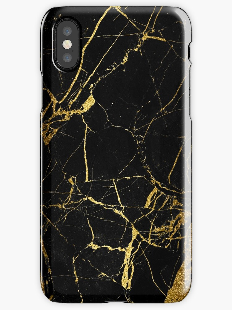 gold and black marble by alison reckewey