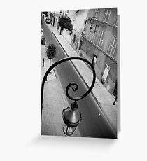 Parisan Street Lamp Greeting Card