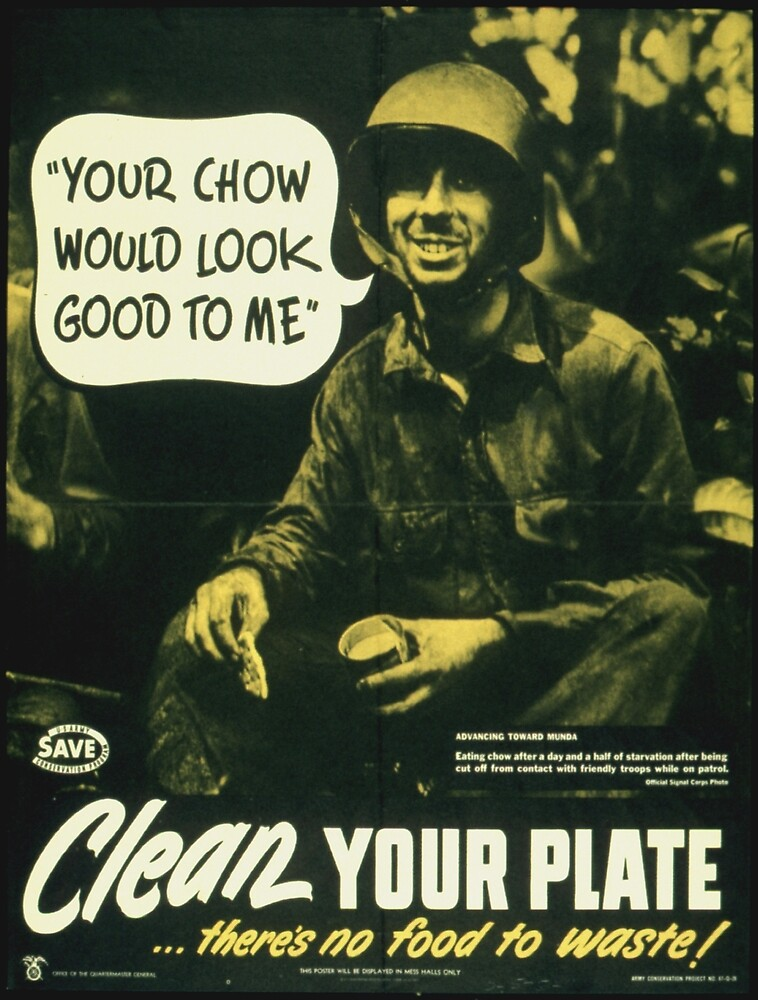 Vintage poster - Clean your plate by mosfunky