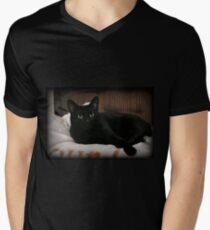 Reclining Men's V-Neck T-Shirt