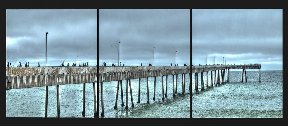 Pacifica Municipal Fishing Pier Panel by ScHPhotography Digital Paintings and Design