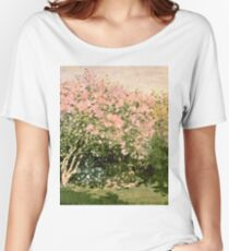 Claude Monet - Lilac In The Sun 1873  Women's Relaxed Fit T-Shirt