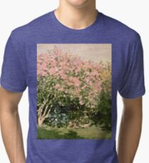 Claude Monet - Lilac In The Sun 1873  Tri-blend T-Shirt
