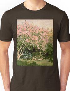 Claude Monet - Lilac In The Sun 1873  Unisex T-Shirt