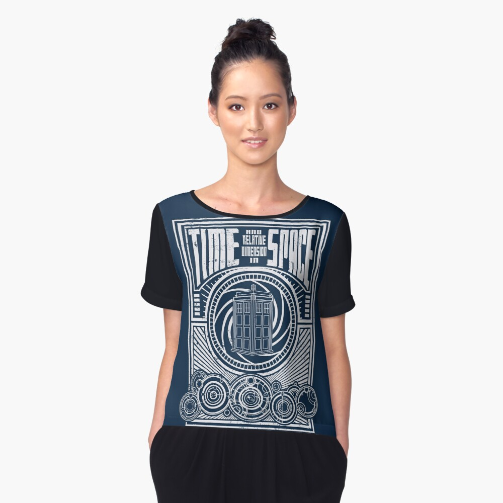 Time and Space Women's Chiffon Top Front