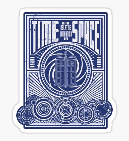 Time and Space Sticker