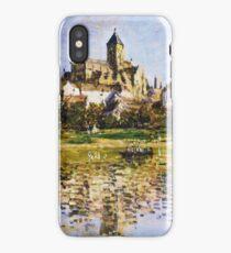 Claude Monet - Vetheuil The Church iPhone Case/Skin