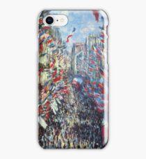 Claude Monet - The Rue Montorgueil Paris iPhone Case/Skin