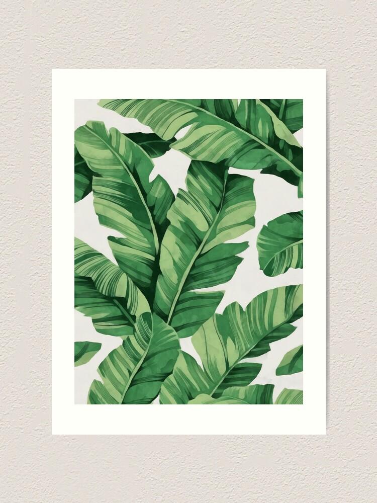 Alternate view of Tropical banana leaves Art Print