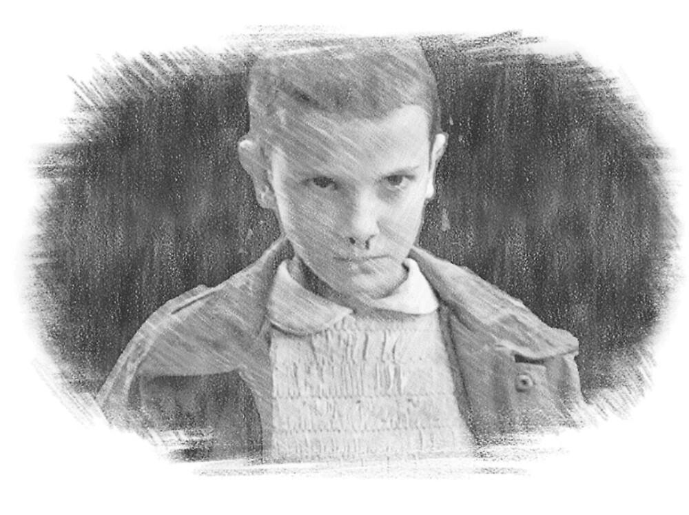 Eleven Sketch Stranger Things by MaverickMartins