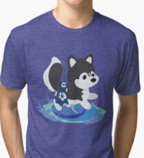 Surfer Husky Tri-blend T-Shirt