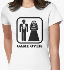 Game Over Funny Women's Fitted T-Shirt