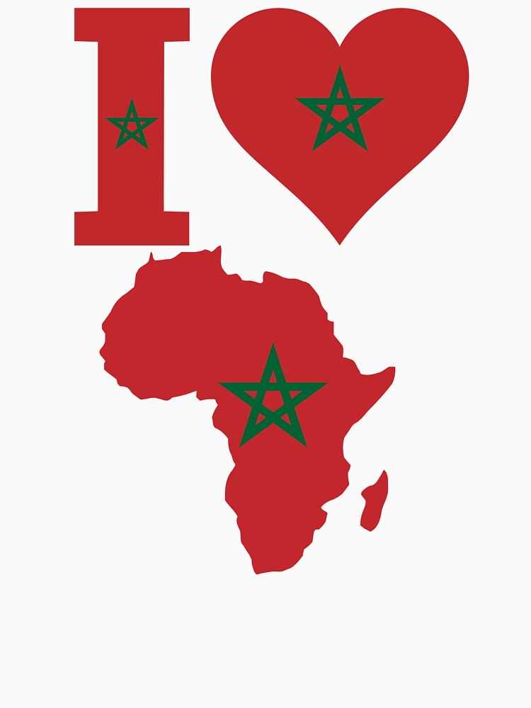 I love Tunisia flag Africa map t-shirt by mamatgaye
