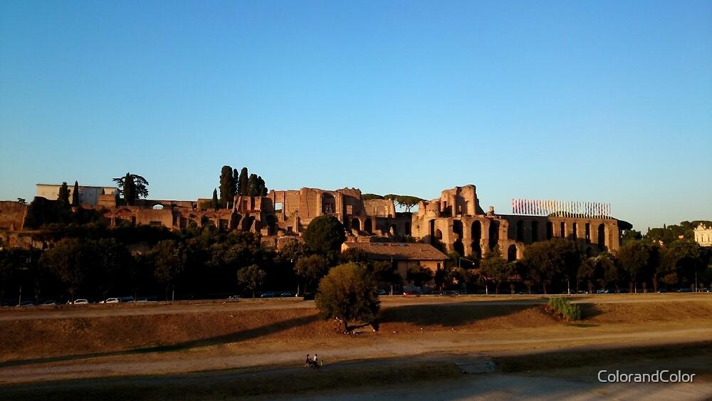 Roman ruin in Rome photography  by ColorandColor
