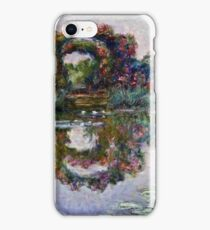 Claude Monet - The Artists Garden At Giverny 1900  iPhone Case/Skin