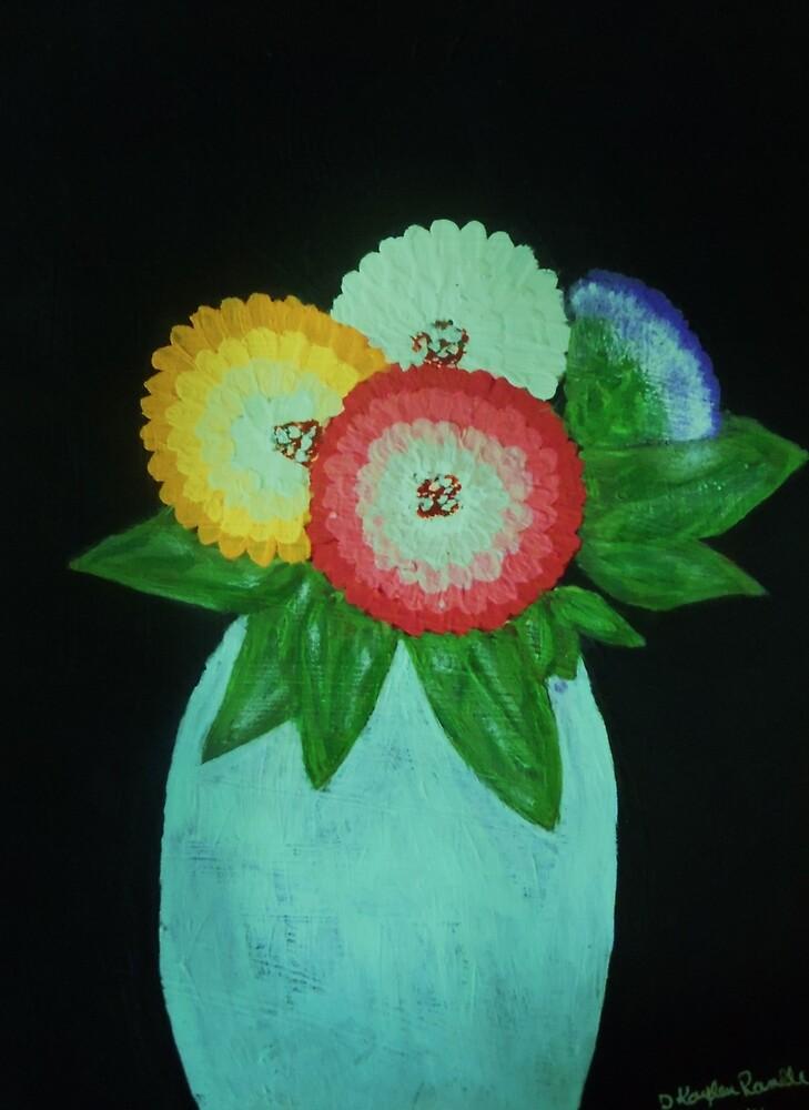 Blue Flower Vase by Dawn Randle