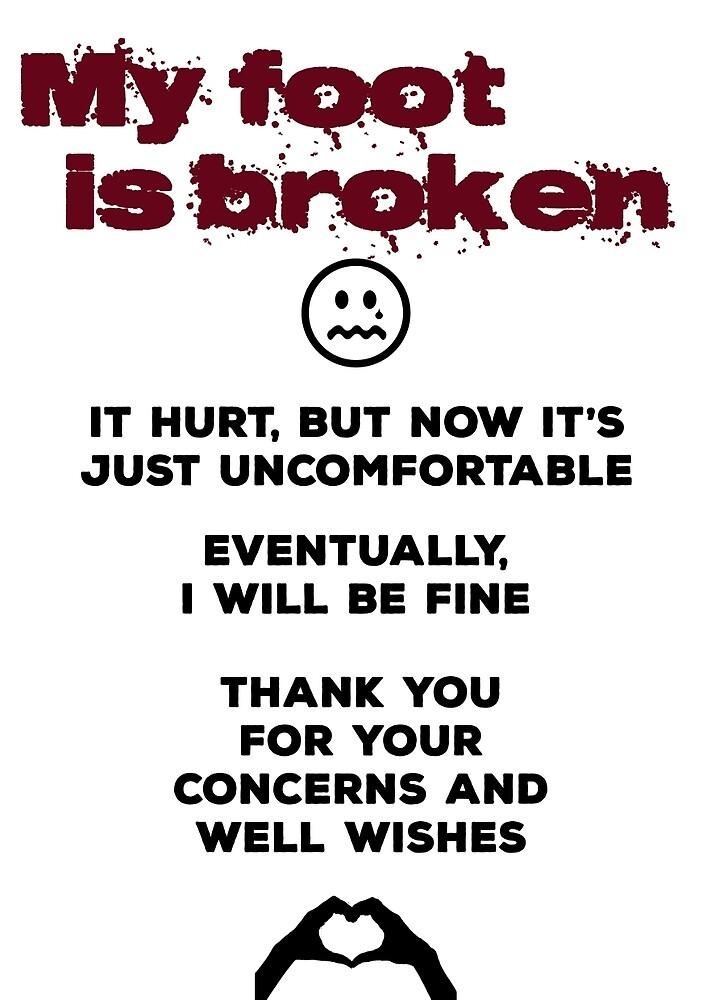 My foot is broken by glums112