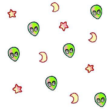 Pink Alien Pattern by SmudgeBubble