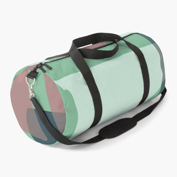 Mid-Century Modern in Minty Green and Mauve-Pink Pattern Duffle Bag