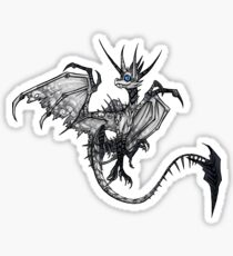 White Drake Blue Eyes Sticker