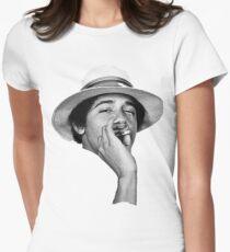 obama kush Women's Fitted T-Shirt