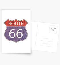Route 66 Straßenschild Postkarten