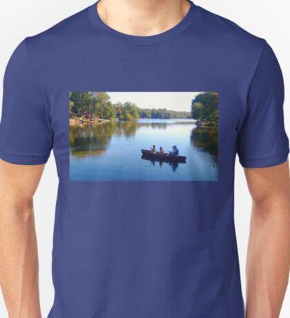Fishing With Dad, Packanack Lake, Wayne NJ T-Shirt