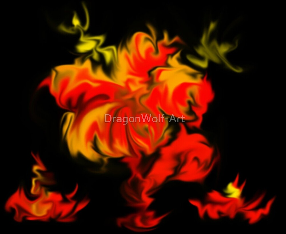 Fire Flower by DragonWolf-Art