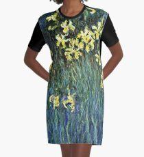 Claude Monet - Yellow Irises ( 1914 -  1917)  Graphic T-Shirt Dress
