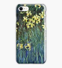 Claude Monet - Yellow Irises ( 1914 -  1917)  iPhone Case/Skin