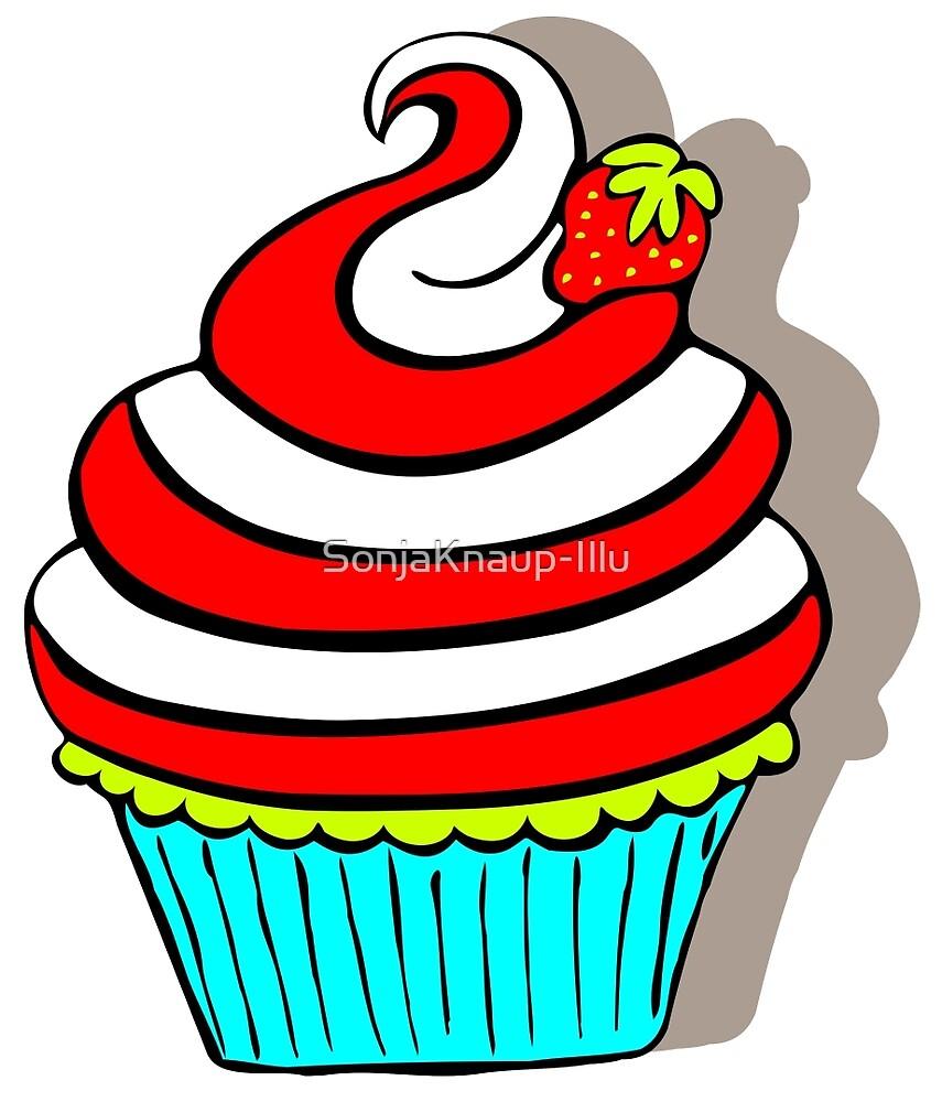 Strawberry cupcake by SonjaKnaup-Illu