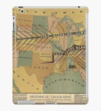 Map of the US, Slavery and Religion - 1888 iPad Case/Skin