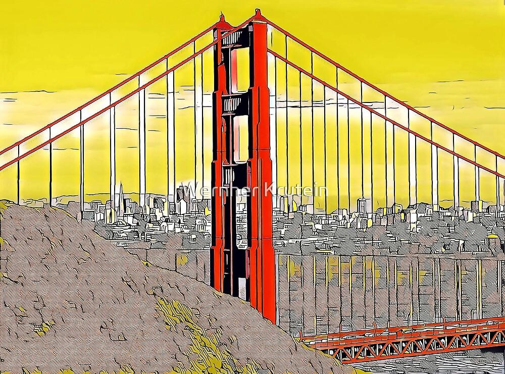 Golden Gate Bridge Cartoon by Wernher Krutein