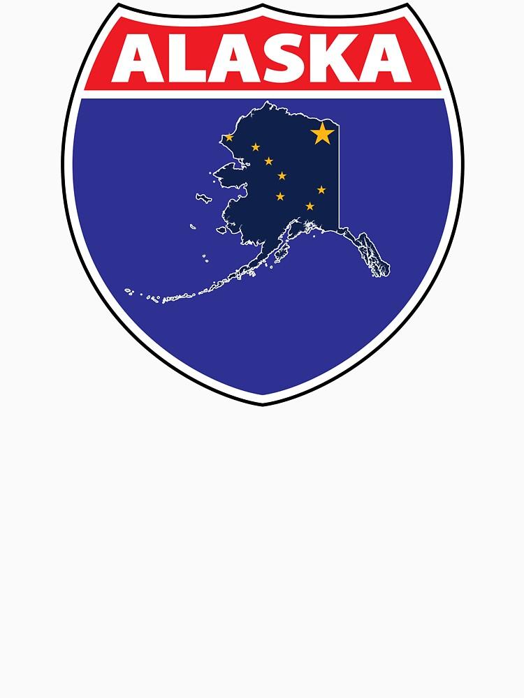 Alaska flag US Hwy seal t-shirt by mamatgaye