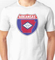 Arkansas flag USA hwy seal sign Unisex T-Shirt