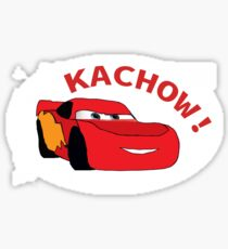 Kachow! - Lightning Mcqueen Meme Design Sticker