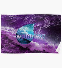 Waterboyz logo purple Poster